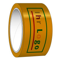 PP-Klebeband Acryl braun 6-farbig