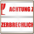 Klebeband ACHTUNG ZERBRECHLICH (rot/weiß)