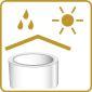 Vor Feuchtigkeit und Sonneneinstrahlung schützen